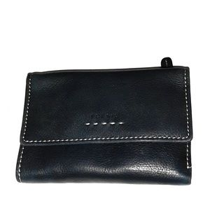 FOSSIL TRIFOLD BLACK LEATHER WALLET